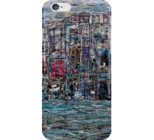 Abstract Marker Drawing of City by Chicago Artist Gary Bradley iPhone Case/Skin