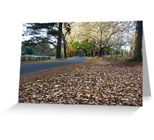 Autumn on Beyers Avenue, Hill End Greeting Card
