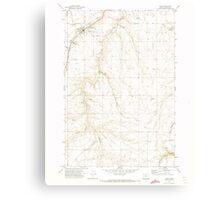 USGS Topo Map Oregon Moro 280794 1971 24000 Canvas Print