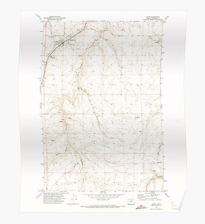 USGS Topo Map Oregon Moro 280794 1971 24000 Poster
