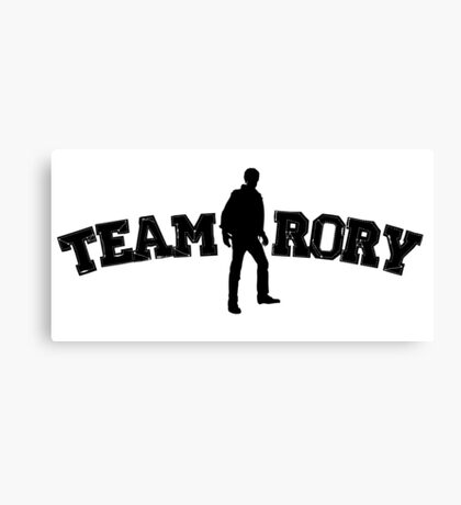 Team Rory Doctor Who  Canvas Print