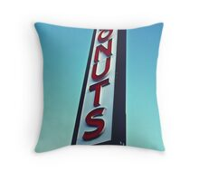 Donuts sign Throw Pillow