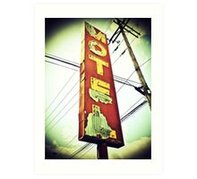 Highway 99 Motel Art Print