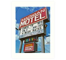 Classic motel sign Art Print