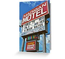 Classic motel sign Greeting Card
