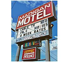 Classic motel sign Photographic Print