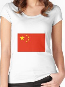 China Flag Women's Fitted Scoop T-Shirt