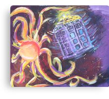 The Tardis Escapes From A Mutant Orange Canvas Print