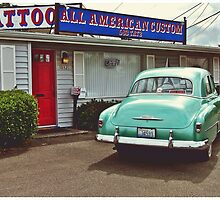 American tattoo parlor by Justintron
