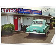 American tattoo parlor Poster