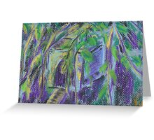 Birdhouse in Hiding (pastel) Greeting Card