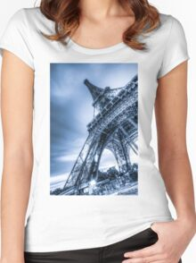 Eiffel Tower 4 Women's Fitted Scoop T-Shirt