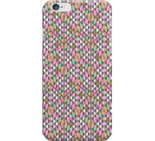 Vintage pink teal gold faux glitter triangles  iPhone Case/Skin