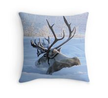 Reindeer Stag Throw Pillow