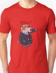 Funny Donald Trump Pig Cartoon T-Shirt