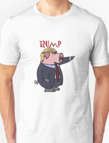 Funny Donald Trump Pig Cartoon T-Shirt