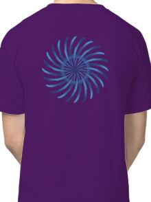 blue spin flower Classic T-Shirt