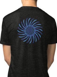 blue spin flower Tri-blend T-Shirt