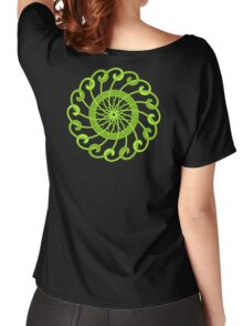lime green spin flower Women's Relaxed Fit T-Shirt