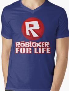 Robloxer For Life Mens V-Neck T-Shirt