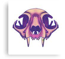 Galaxy cat skull Canvas Print
