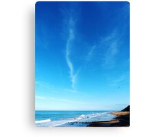 Surfers At Cromer Beach Canvas Print
