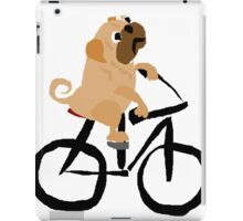 Funny Pug Dog Riding a Bicycle iPad Case/Skin