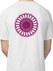 pink spin flower Classic T-Shirt
