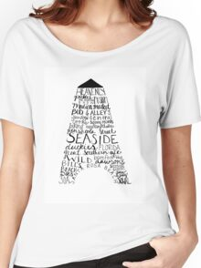 Hand Lettered-Seaside, Florida Women's Relaxed Fit T-Shirt