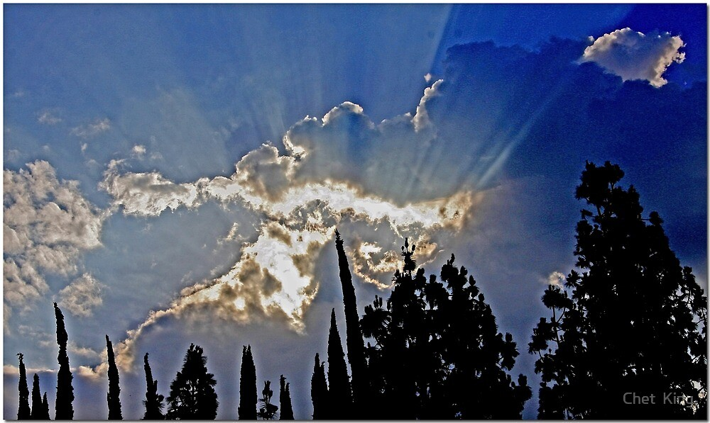 Late Afternoon Sky: SoCal by Chet  King