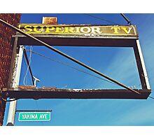 Former television repair shop Photographic Print
