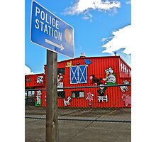 Police station sign Photographic Print