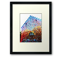Scary Crying House - Unique Photography  Framed Print