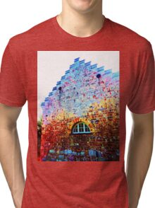 Scary Crying House - Unique Photography  Tri-blend T-Shirt