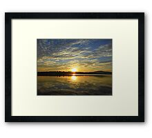 Sunset On Lough Swilly.....................Most Products Framed Print