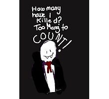 Bad Drawing Of Count Dracula Halloween Pun Photographic Print