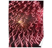 Fireworks Light Trails Poster