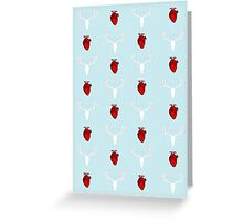 Hannibal Stag&Hearts Pattern Greeting Card