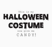 """Halloween Costume"" -black font Kids Tee"