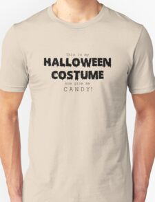 """Halloween Costume"" -black font Unisex T-Shirt"