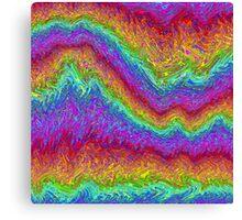 Rainbow - Marble -1 Canvas Print