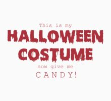 """Halloween Costume"" -red font One Piece - Short Sleeve"