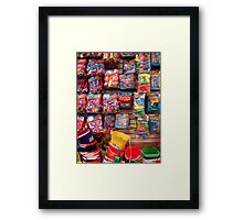 Buckets and Toys Framed Print
