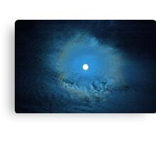 """""""Metzli azul"""" , """"Blue Moon"""" Canvas Print"""