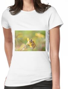 Honeybee on Wood Sorrell Womens Fitted T-Shirt