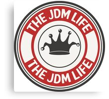 The jdm life badge - red Canvas Print