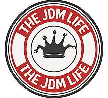 The jdm life badge - red Photographic Print