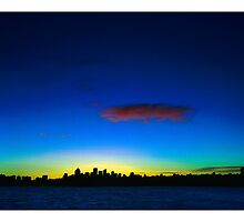 Night & Day: North Sydney Skyline by Tony Peri