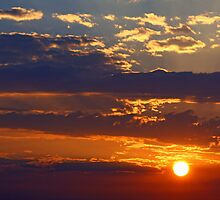 God Painted me a Sunrise Today by Susan Blevins