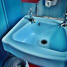 Blue Bathroom. - Kohukohu # 3 by Lynne Haselden